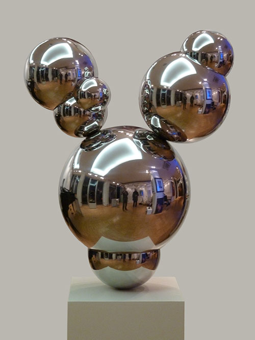contemporay art, stainless steel sculpture - edelstahl skulptur