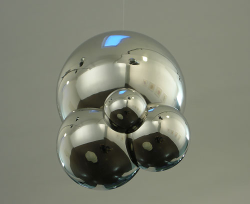 stainless hanging sculpture